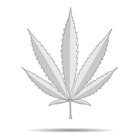 Marijuana, cannabis logo on white background.  illustration Standard-Bild - 125684524
