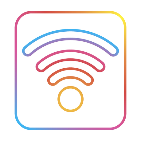 Free isolated logo wireless, for graphic design. Wifi symbol.