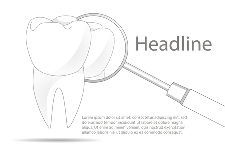 healthy tooth. dental clinic. dental equipment. on a white background Imagens