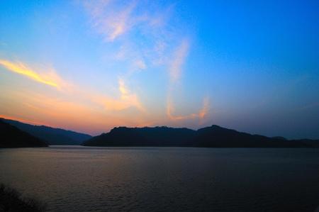 catchment: Dam catchment , Thailand Stock Photo