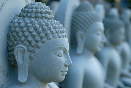 buddhism: sculpture buddha Stock Photo