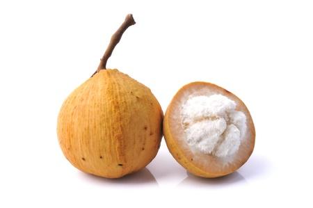 Santol fruit isolated on white background Stock Photo - 13601415