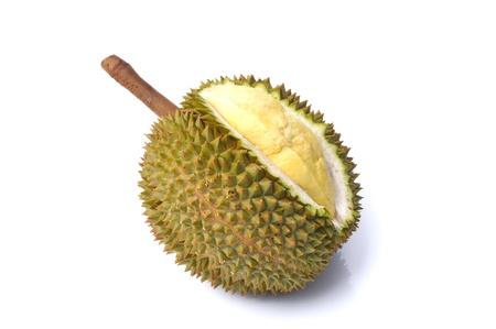 King of fruits, durian isolated on white background photo