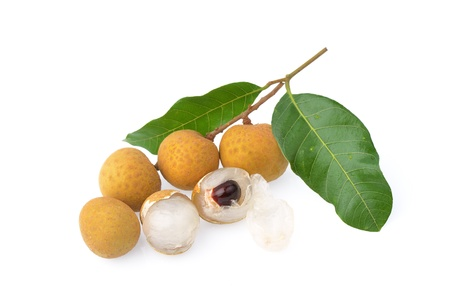 Longan fruit isolated on white background photo