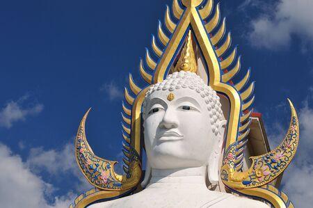 godhead: Buddha statue and blue sky , Thailand