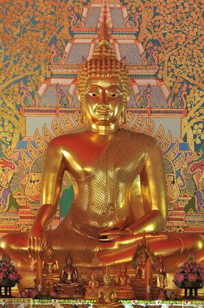 Golden Buddha statue , Thailand photo