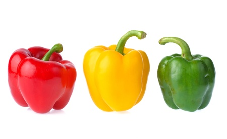Fresh sweet pepper isolated on white background photo