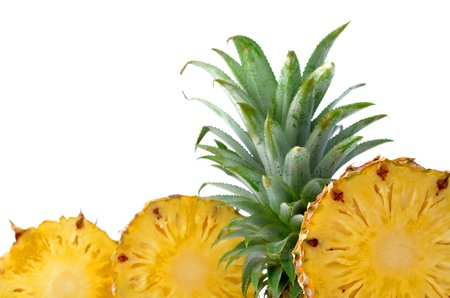 Fresh pineapple isolated on white background photo