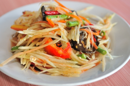 green papaya salad: Green papaya salad Thai cuisine spicy delicious     SOM TAM   Thai