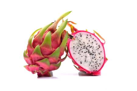 Dragon fruit isolated on white background photo
