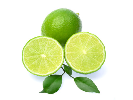 Fresh lime isolated on white background photo