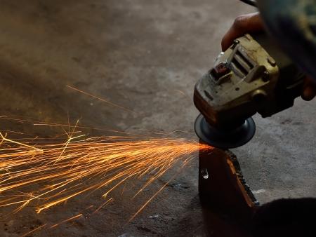 Grinding steel photo
