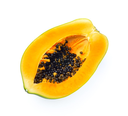 cranny: Papaya isolated on white