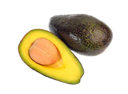 Avocado fruit isolated on a white background photo