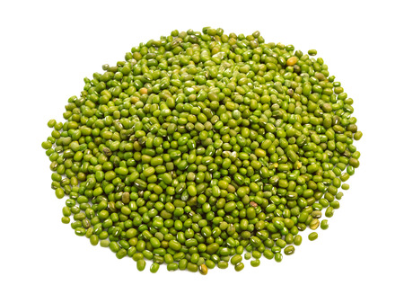 Mung beans isolated on white background photo