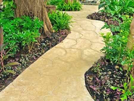 stone walkway in garden photo