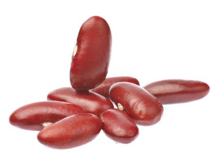 adzuki bean: red beans isolated on white background Stock Photo
