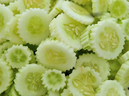 Fresh sliced cucumber photo