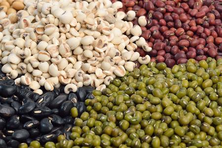 Mixture of beans, peas photo
