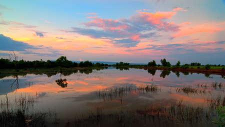 phang nga: Sunset at Phang Nga ,Thailand Stock Photo