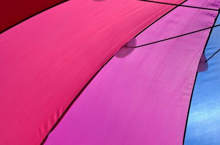 colored umbrellas photo