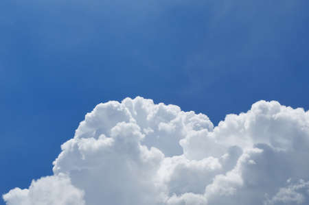 Blue sky and beautiful cloud for background usage Stock Photo