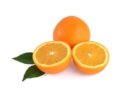 cantle: Orange fruit isolated on white background