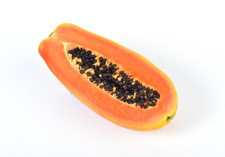 cutaneous: Papaya isolated on white background Stock Photo