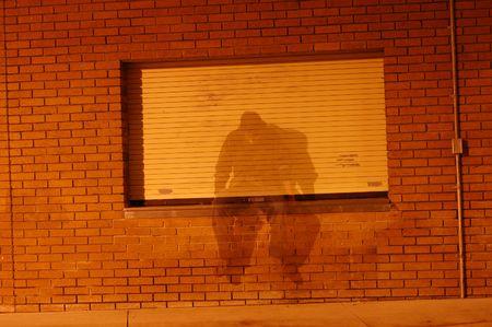 prose: man sitting as ghost