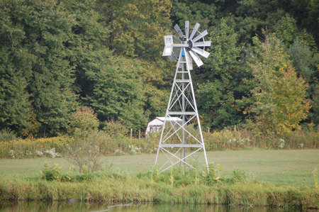 Windmill in rural ohio photo