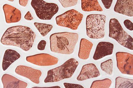 crush on: Ceramic floor texture in crush stone shape
