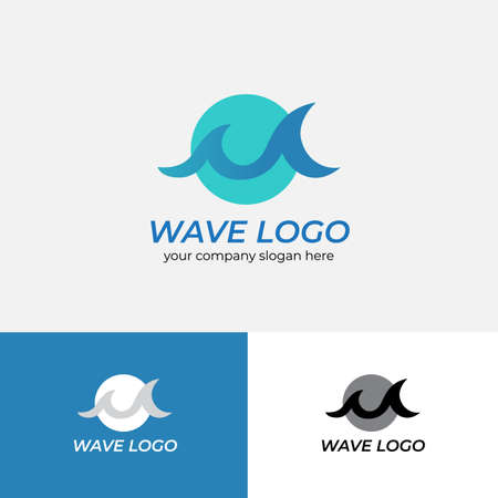 Water wave Logo Design Template. Logotype concept.