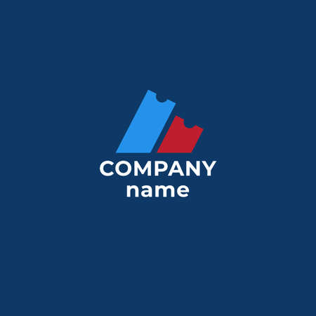 U Letter Ticket Concept Logo Design Template vector icon design.Simple logo for your business company.