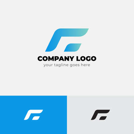 Modern Shape Concept Logo Design Template vector icon design.Simple logo for your business company.