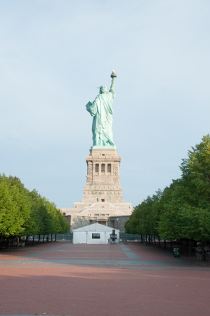 back of Statue of Liberty  photo