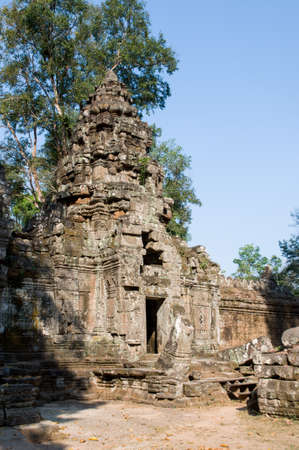 ruined temple in Cambodia photo