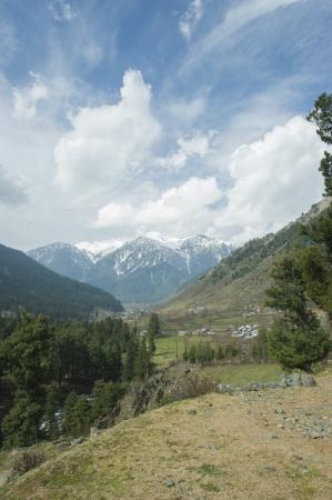 kashmir: mountain in Pahalgam Valley, Kashmir, India