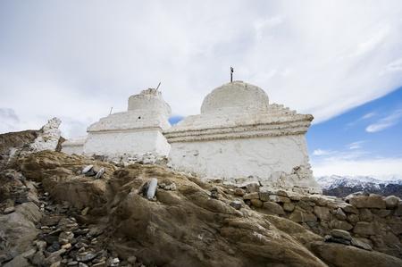 stupas: the stupas at Shey palace, Leh, India