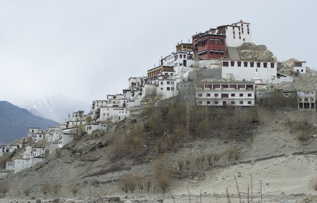 Thiksey monastery in Leh, India photo