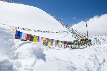 khardungla, the highest road in Leh,  India photo