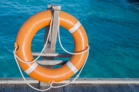 lifevest: a lifebuoy, safety equipment Stock Photo