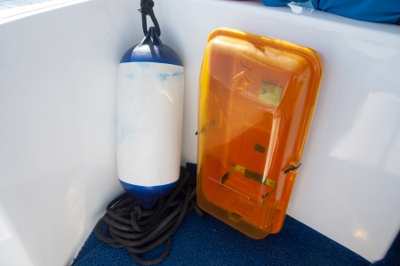 grapnel: buoy on a boat