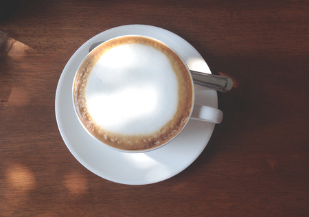 capuchino: the cup of hot capuchino , film process