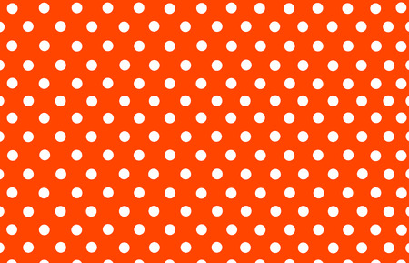 the white polka dot with orange red background