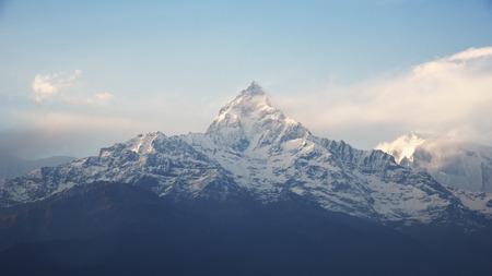 fishtail: view of fishtail in Annapurna range, Nepal