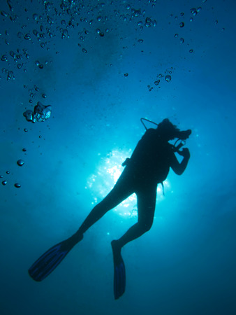 the diver in north Andaman, Thailand