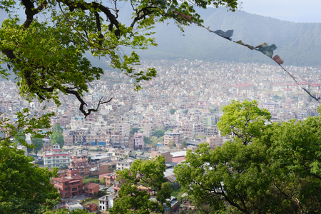 pokhara: top view of Pokhara Valley, in Nepal Stock Photo