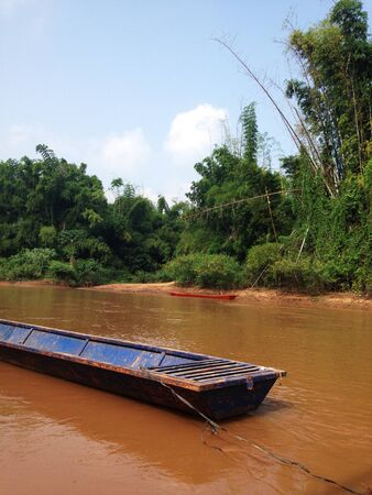 long tailed boat: the long tailed boat in river