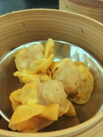 closed up the streamed pork dumplings Stock Photo