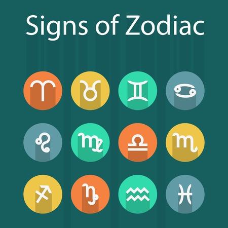 zodiak: Illustration of zodiak flat icon with shadowŒ